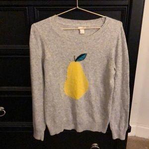 Women's JCrew Pear Sweater size Small